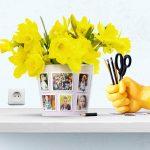 Funny Photo Flowerpot Gift Idea Kindergarten Pot 12 Photos