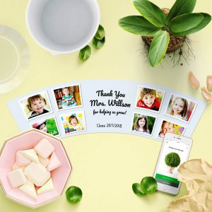 Personalised graduation Kindergarten Pot 8 Photos Gift Idea