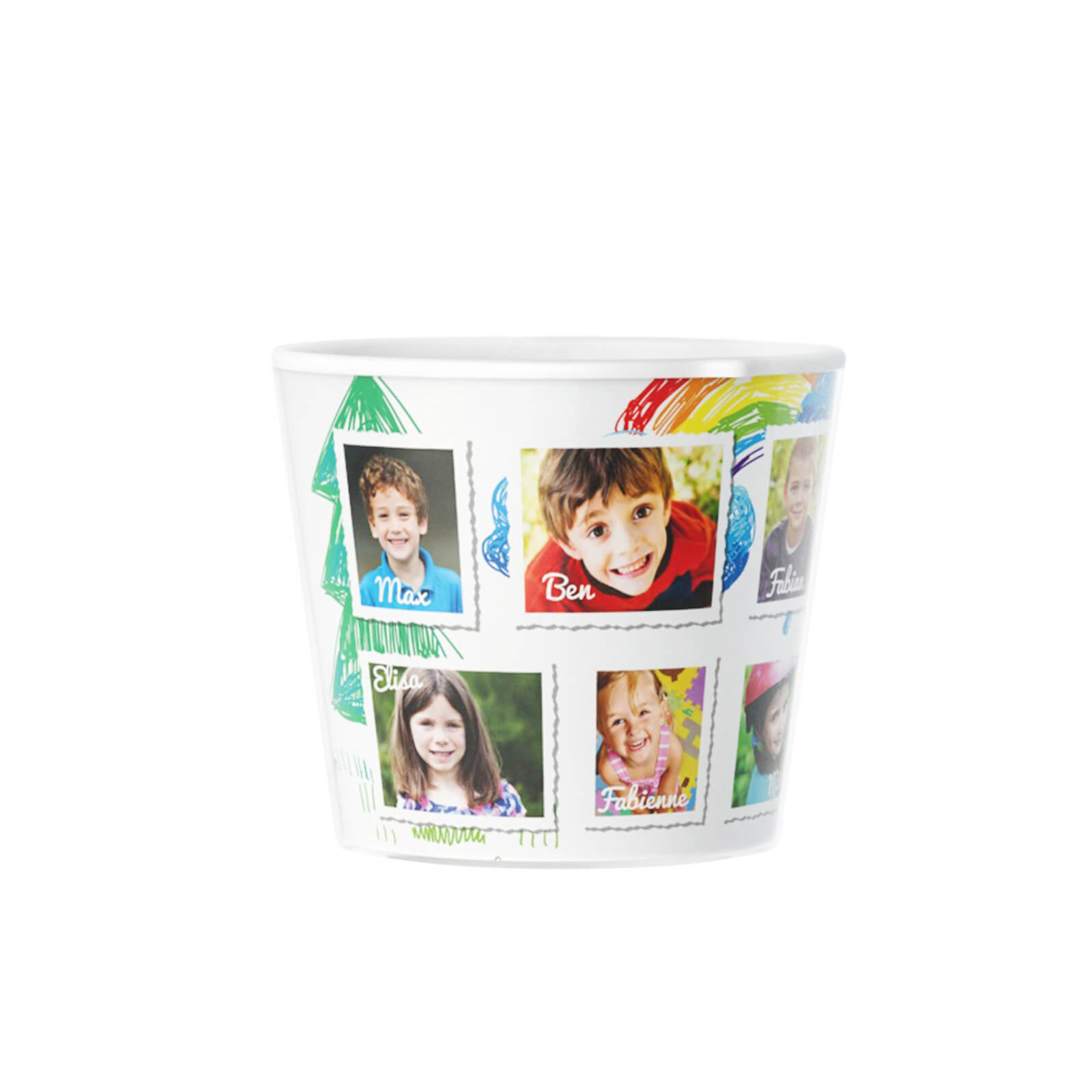 Thank You Kindergarten 10 photos of kids Photo Gift Flowerpot