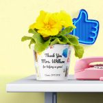 Thank You Kindergarten 8 photos of kids Kindergarten Teacher appreciation Flowerpot Gift Idea preschool