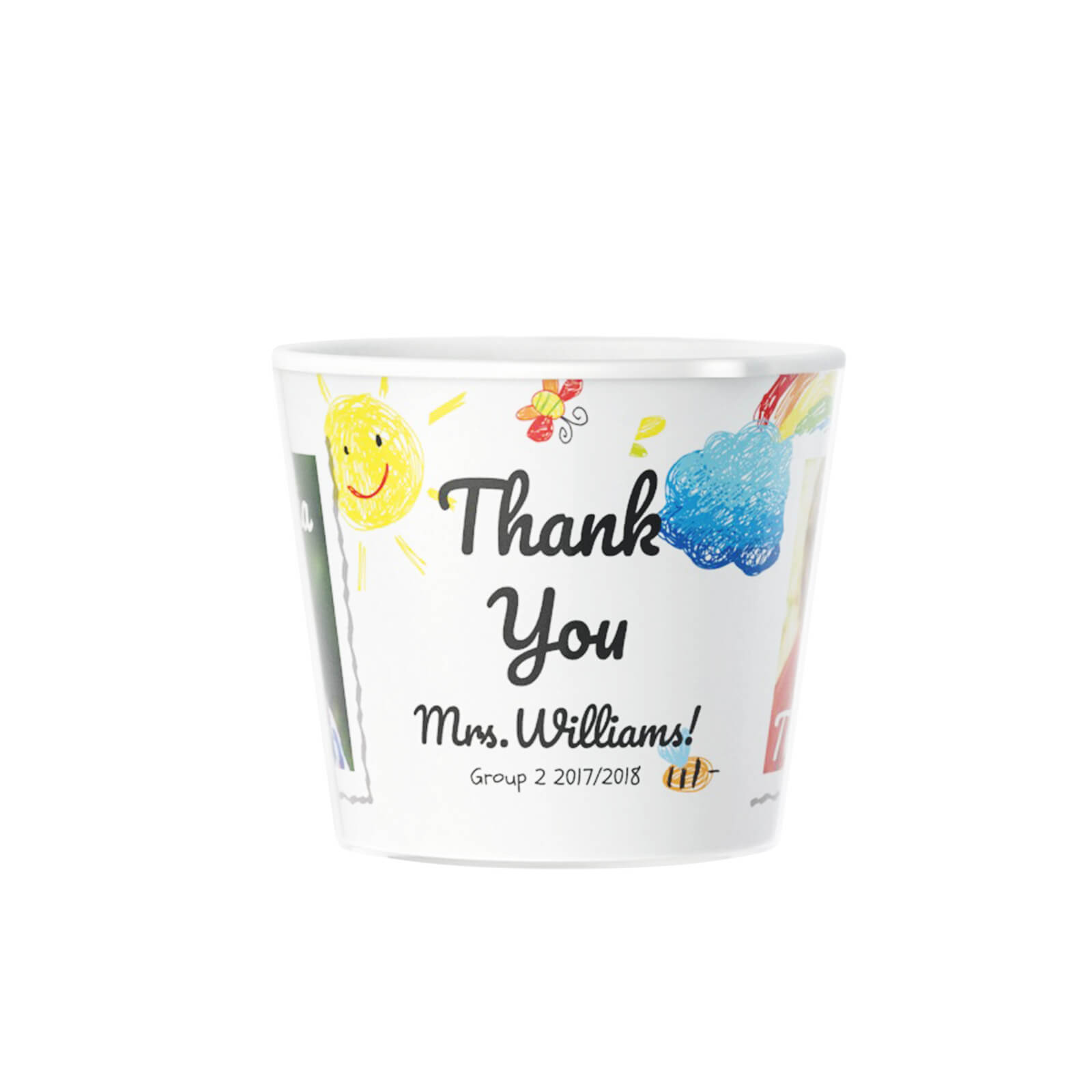 Thank You Personalised Graduation Kindergarten Flowerpot 2 Photos