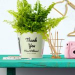 Thank you Flowerpot Gift for babysitter with 2 Photos