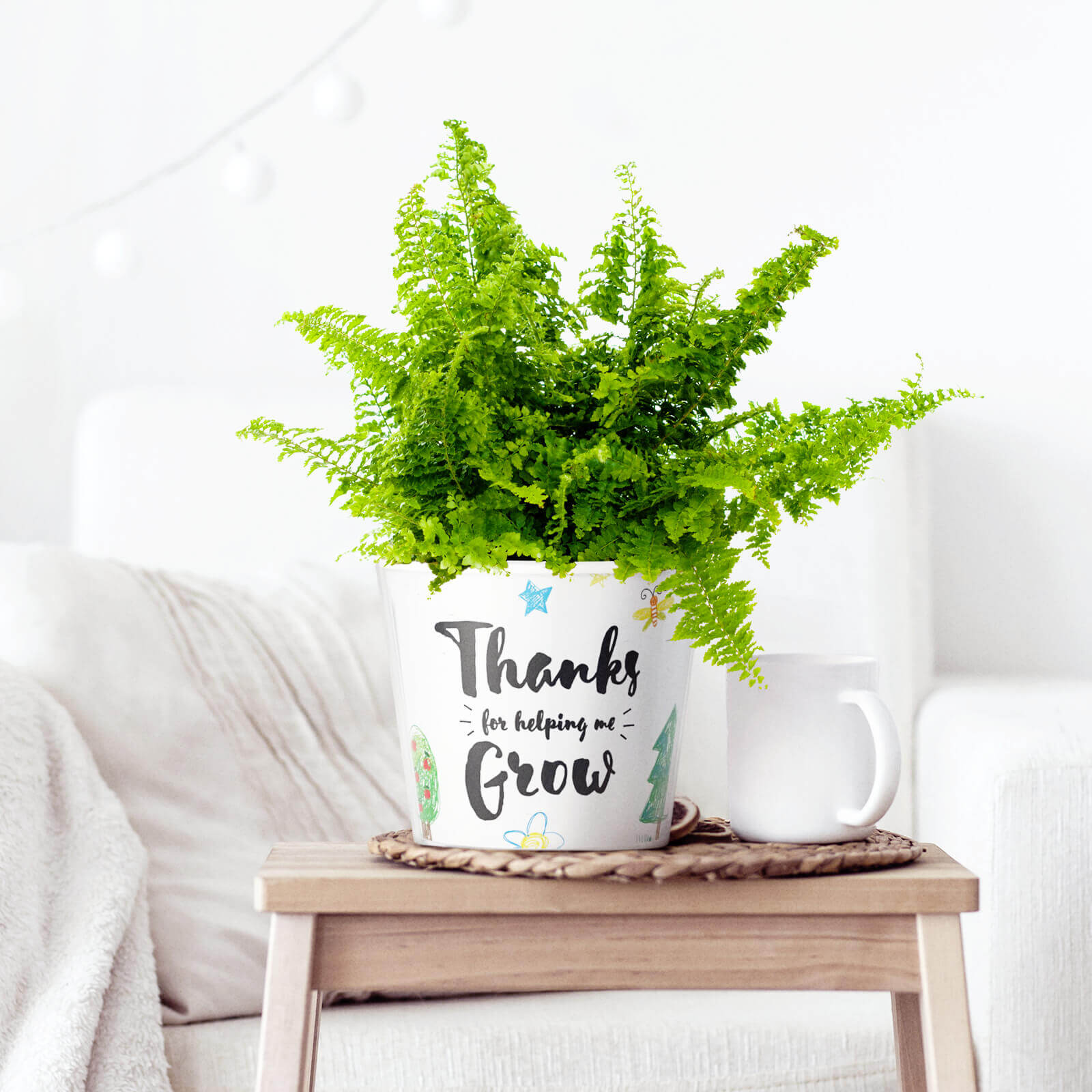 A personalised Flowerpot Gift Thanks For Helping Me Grow