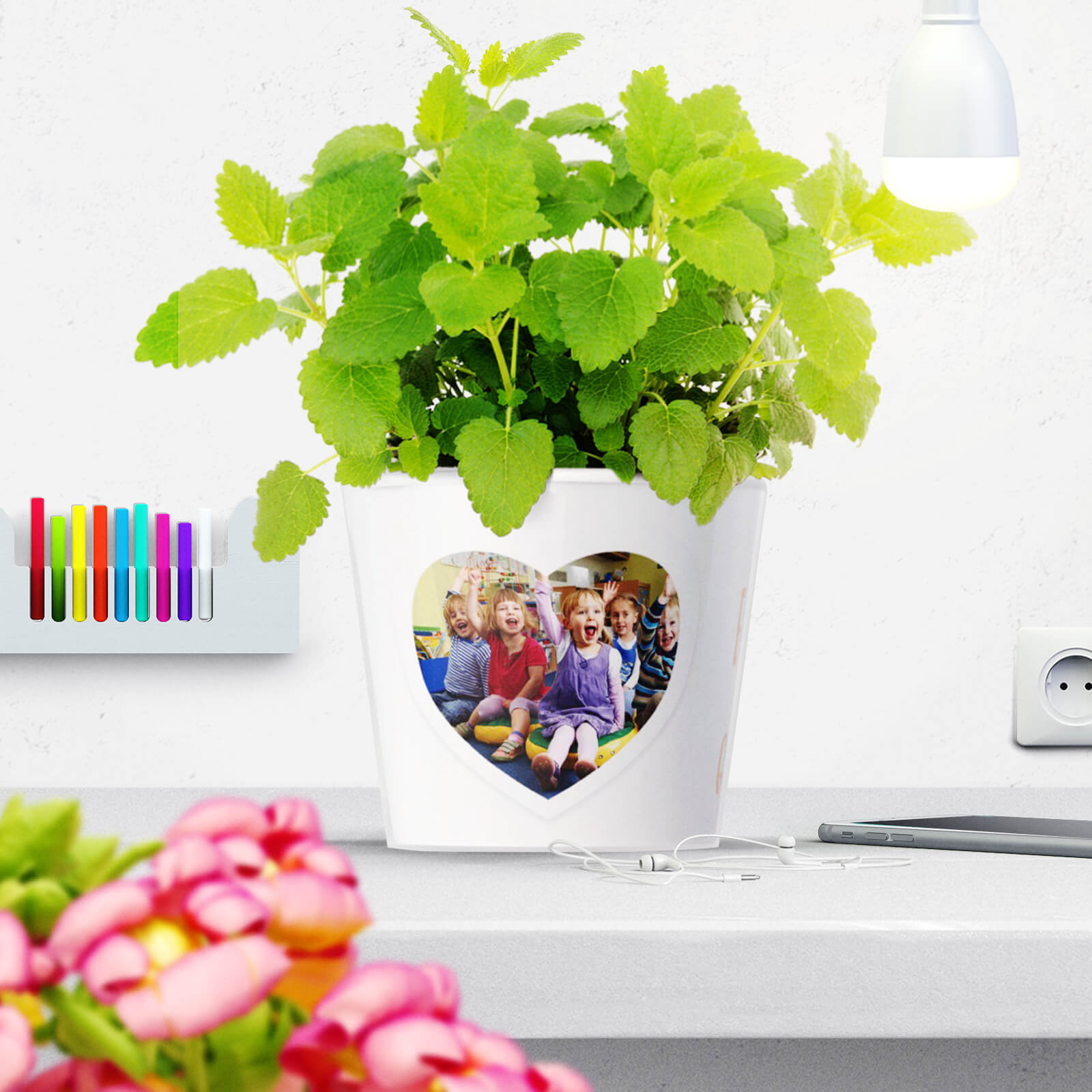 Unique Teacher appreciation Flowerpot Gift Behind Every Great Child is a Great Nanny